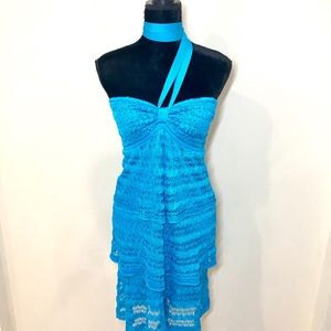 BEBE Turquoise Convertible Dress!